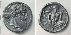 tetradrachm of Naxos, shortly after 461 BC