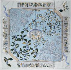 840aa06b4f31 neige d antan hermès - Google Search Fleurs, Carré Hermes, Foulard, Foulards