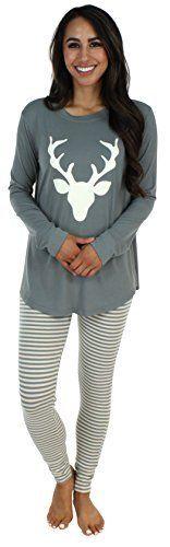 fc68132efdf Sleepyheads Women s Sleepwear Knit Longsleeve Top and Leggings Pajamas PJ  Set