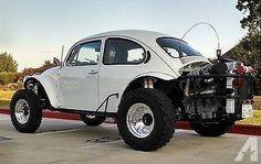 Volkswagen Baja Bug in white Car Volkswagen, Vw Cars, 4x4, Baja Bug For Sale, Vw Baja Bug, Vw Engine, Offroader, Sand Rail, Beach Buggy