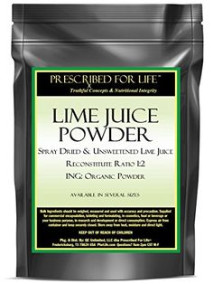 Lime Juice Powder  Spray Dried  Unsweetened Lime Juice  Reconstitute Ratio 12  ING Organic Powder 12 oz * You can find out more details at the link of the image.