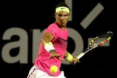 Rafa defeated Pablo Cuevas 4-6, 7-5, 6-0.