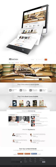 Book Quotes Web Design by *vasiligfx on deviantART