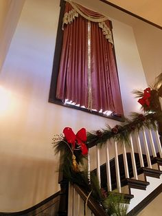 The grand staircase at Providence House at Casey Jones Village!