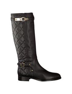 Phillip Hardy Schwarze Flache Stiefel für Damen Stiefel flach 387459 schwarz Leder - Damenschuhe im Online-Shop von GISY Schuhe