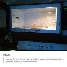 An unpleasant smile: