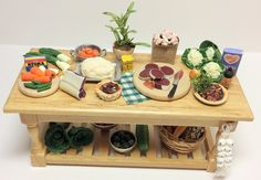 1:12 scale dolls house miniature handmade O.O.A.K prep table 2 to choose from. | eBay
