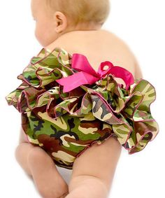 Dress Up Dreams Boutique Green Camo Ruffle Bloomers - Infant & Toddler | zulily