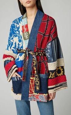 Kimono Fashion, Girl Fashion, Fashion Outfits, Womens Fashion, Fashion Design, Shibori, Motif Kimono, Kimono Coat, Refashion