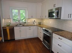White Kitchen Shaker Cabinets pretty much exactly what i want- white shaker cabinets, stainless