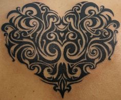 Tribal Heart Tattoo - I am in love with this real talk...