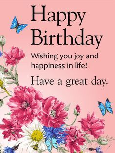 wishing you joy and happiness happy birthday card