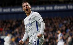 Download wallpapers Eden Hazard, joy, footballers, Chelsea FC, Premier League, Hazard, soccer, Chelsea