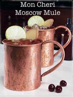 The Paleo Mon Cheri Moscow Mule Recipe is a combination of ginger beer and vodka. Its refreshing, easy and served in copper cup to make this drink more fun. Easy Alcoholic Drinks, Healthy Cocktails, Yummy Drinks, Best Gluten Free Recipes, Primal Recipes, Real Food Recipes, Drink Recipes, All You Need Is, Moscow Mule Recipe