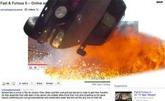 Fast & Furious 5 pensa che più efficace di un trailer, sia far esplodere direttamente la pagina del video. #youtube #youtubemarketing #youtubetips #youtubetakeover #graphic #design #youtubechannel #marketing #videomarketing
