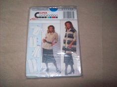 Burda Blouse, Skirt, Vest, burda Sewing Pattern 4185 Super Combination by…
