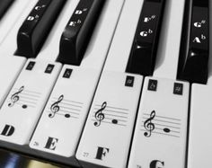 Piano Keyboard 88 Keys 52 White Keys Note Stickers by BuBuBabyShop