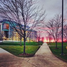 #gvsu sunset- and people wonder why I love my undergrad :)