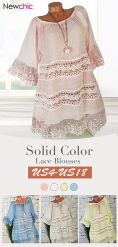 2ce339efeb3e1 Solid Color Lace Long Bell Sleeve O-neck Blouses. Children Clothes