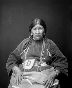 After Water (the wife of Bird Rattler) - Blackfeet (Pikuni) - 1923