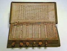 Napier's calculating tables - History of computing hardware - Wikipedia, the fre. - Napier's calculating tables – History of computing hardware – Wikipedia, the free encyclopedi - John Napier, Wooden Board Games, Computers For Sale, Magic Squares, Lottery Numbers, Hand Type, Electronic Devices, Electronics Projects, Color Correction