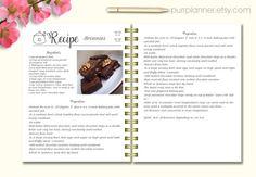 free printable recipe template diy recipe book a4 recipe books