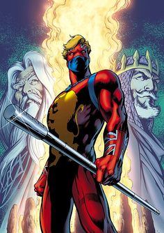 Captain Britain by Alan Davis The original costume and still the best in my opinion. This suit with the abilities of the others would be great.
