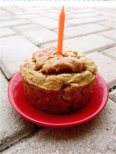 Grain-Free Peanut Butter Apple Doggy Cake