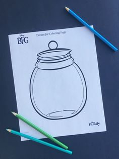 Encourage your little ones to draw their dreams inside this Dream Jar Coloring Page.The magic of Roald Dahl's The BFG scuddles off the page and onto the big screen July 1st!