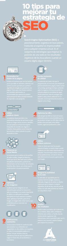 10 tips para mejorar tu estrategia de SEO #Infografía