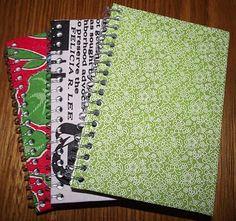 ScrapBi: Passo a Passo - Capa de caderno com tecido