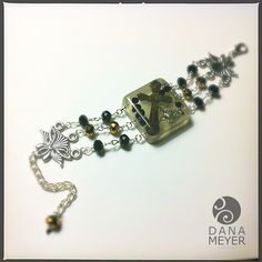 Rosary Bracelet Made from Reclaimed and Recycled Vintage Rosary Parts #danameyerdesigns #resin