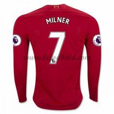 Billige Fodboldtrøjer Liverpool 2016-17 Milner 7 Langærmet Hjemmebanetrøje