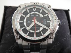 Bulova Precisionist 96B133 Titanium Mans Watch Brand New In Box