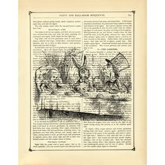 Vintage Book Page Art Print ($1.79) ❤ liked on Polyvore