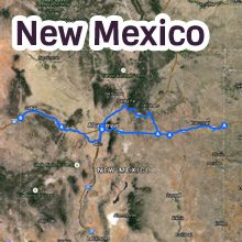 New Mexico Route 66 Map