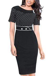 Viwenn Women's Vintage Rockabilly Tunic Patchwork Business Pencil Bodycon Dress Black Viwenni http://smile.amazon.com/dp/B00URB4GCU/ref=cm_sw_r_pi_dp_6rCGvb09KKV8T