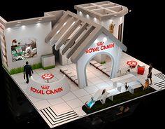 花瓣网-Stand desenvolvido para a Royal Canin evento Anclivepa. Pos Design, Stand Design, Display Design, Web Banner Design, Exhibition Stall Design, Stage Set Design, Cool Dog Houses, Creative Colour, Lego Building