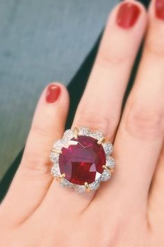 The Jubilee Ruby in a ring by Verdura.