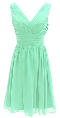 Olidress Women s Short Chiffon Prom Bridesmaid Homecoming Dress Mint US16  Olidress http   www d28508c749c1