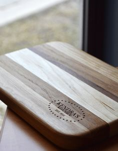 Engraved Wood Bread Board- with Star Design