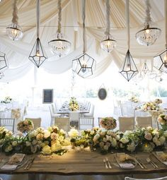 Organic elements like reclaimed wood add a natural touch to any reception @GloMSN http://glo.msn.com/living/mindy-weiss-wedding-decor-trends-8361.gallery?photoId=108852