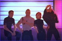 Badass Mass Effect illustration that makes me wish there were more than one Mass Effect anime coming out this year.