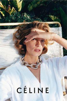 Daria for Céline, statement necklace, white shirt