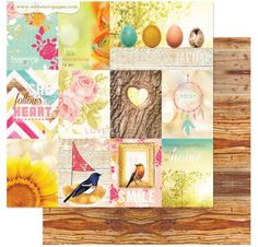 Papier double 30x30 'Webster's Pages - Nest' Home With You