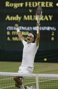 Today at Wimbledon -- The Federer express rolls again!