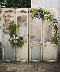closet door wedding decor vintage diy