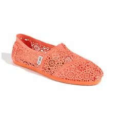 Toms Crochet Slip-On....love the color!