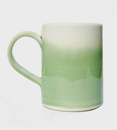 White & Mint Ceramic Coffee Mug | Fill this hand-crafted mug with a piping hot cup of coffee as ... | Mugs