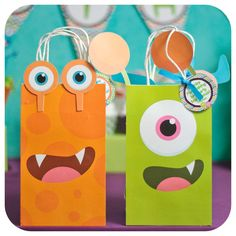 Little Monsters; Little Monsters Party; Little Monsters Birthday Party; Little Monsters Gift Bag Shipped to you! Little Monster Birthday, Monster Birthday Parties, Toy Story Birthday, Baby First Birthday, First Birthday Parties, Birthday Party Themes, First Birthdays, Monster Cupcakes, Party Kit